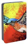 Bluebird In Flight Portable Battery Charger