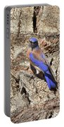 Bluebird On Canary Island Palm I Portable Battery Charger