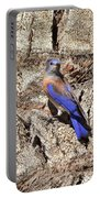 Bluebird On Canary Island Palm II Portable Battery Charger