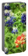 Bluebonnet Bouquet Portable Battery Charger