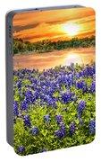 Bluebonnet Sunset  Portable Battery Charger