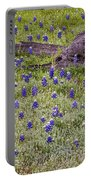 Bluebonnets And Fallen Tree - Texas Hill Country Portable Battery Charger