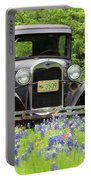 Bluebonnets And Fords Portable Battery Charger