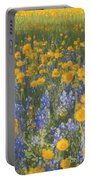 Bluebonnets And Wildflowers Portable Battery Charger