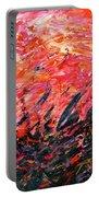 Bluegrass Sunrise - Crimson B-right Portable Battery Charger