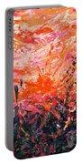 Bluegrass Sunrise - Crimson A-left Portable Battery Charger