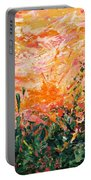 Bluegrass Sunrise - Desert A-left Portable Battery Charger