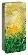 Bluegrass Sunrise - Olive A-left Portable Battery Charger