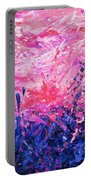 Bluegrass Sunrise - Violet A-left Portable Battery Charger