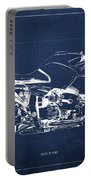 Blueprint For Men Office Decoration. R1100s Blue Background Portable Battery Charger