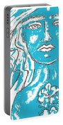 Blues Girl Portable Battery Charger