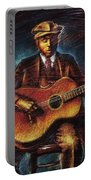 Blues Guitarist Portable Battery Charger