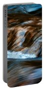 Blurred Cascades On The Autumn River Portable Battery Charger