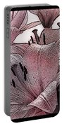 Blushing Lilies Portable Battery Charger