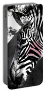 Blushing Zebra Portable Battery Charger
