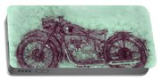 Bmw R32 - 1919 - Motorcycle Poster 3 - Automotive Art Portable Battery Charger