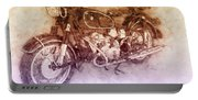 Bmw R60/2 - 1956 - Bmw Motorcycles 2 - Vintage Motorcycle Poster - Automotive Art Portable Battery Charger
