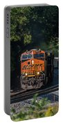 Bnsf Coming Around The Curve Portable Battery Charger