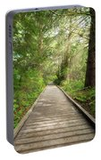 Boardwalk Along Hiking Trail At Fort Clatsop Portable Battery Charger