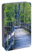 Boardwalk Going Into The Woods Portable Battery Charger