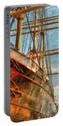 Boat - Ny - South Street Seaport - Peking Portable Battery Charger by Mike Savad