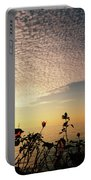 Boat At Sea And Roses Portable Battery Charger