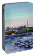 Boat Harbor At Dusk Portable Battery Charger