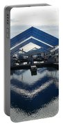 Boat Reflection On Lake Coeur D'alene Portable Battery Charger