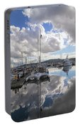 Boat Slips At Anacortes Cap Sante Marina In Washington State Portable Battery Charger