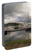 Boat Slips At Anacortes Marina In Washington State Portable Battery Charger