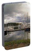 Boat Slips At Anacortes Marina In Washington State Portable Battery Charger