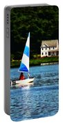 Boat - Striped Sails Portable Battery Charger
