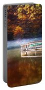 Boathouse In Autumn Oil Painting Portable Battery Charger