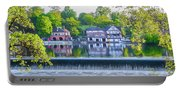 Boathouse Row - Framed In Spring Portable Battery Charger