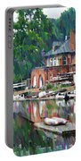 Boathouse Row In Philadelphia Portable Battery Charger by Bill Cannon