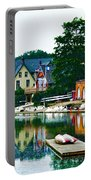 Boathouse Row In Philly Portable Battery Charger by Bill Cannon