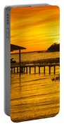 Boathouse Sunset Portable Battery Charger