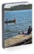 Boating And Sitting On The Dock Portable Battery Charger