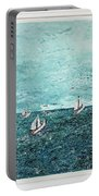Boats And Birds Portable Battery Charger