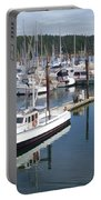 Boats At Friday Harbor Portable Battery Charger