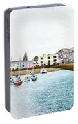 Boats At Ilfracombe Harbour Portable Battery Charger