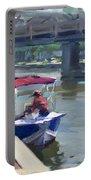 Boats At North Tonawanda Canal Portable Battery Charger