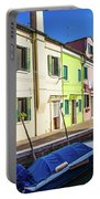 Boats In Burano Portable Battery Charger