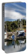 Boats In Winchester Bay Portable Battery Charger