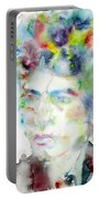 Bob Dylan - Watercolor Portrait.4 Portable Battery Charger