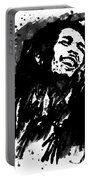 Bob Marley Silhouette   Portable Battery Charger
