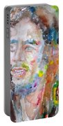 Bob Marley - Watercolor Portrait.17 Portable Battery Charger