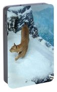 Bobcat On A Mountain Ledge Portable Battery Charger