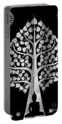 Bodhi Tree_iv_gold05_greyscale Portable Battery Charger