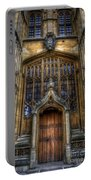 Bodleian Library Door - Oxford Portable Battery Charger by Yhun Suarez